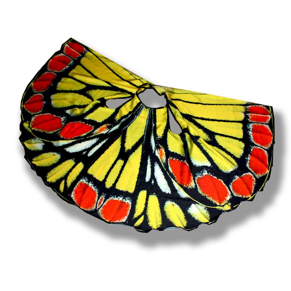 """Очаровательный летний сарафан с зАпахом для девочки, выполнен из тонкого сатина-срейч. Приятный на ощупь, не сковывает движения, обеспечивая наибольший комфорт. Изделие на тонких бретелях, декорированно дизайнерским принтом, имитирующим крылья бабочки.  Отличный вариант для прогулки и праздника! Юная красавица будет словно завернута в крылья бабочки.  Яркий, просторный сарафан можно использовать как карнавальный кастюм.  Сарафан легко стирается и моментально сохнет, он будет идеальным нарядом для похода на поляж.  Цена платья зависит от размера  На рост 56-80 см - 1600 рублей.  На рост 86-104 см - 1800 рублей.  На рост 110-122 см - 2000 рублей.   Возможно изготовление сарафана с """"крыльями"""" другой бабочки по индивидуальному эскизу под заказ.  ВАЖНО!  В комментариях к заказу укажите размер сарафана и расцветку."""