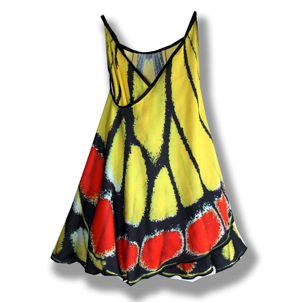 Сарафан, имитирующий крылья бабочки фотопринт